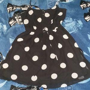 Polka dot baby doll sun dress